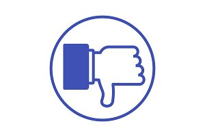 dislike blue icon