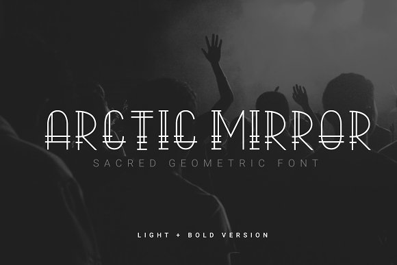 Arctic Mirror Sacred Font