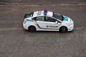 Toyota Prius - ukrainian police car