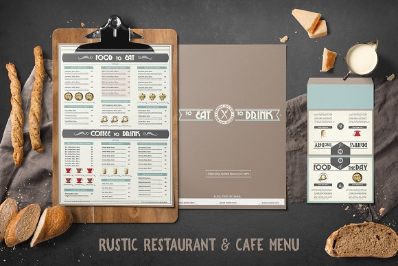 Rustic Restaurant Cafe Menu