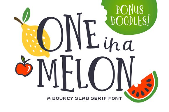 One In A Melon Font Doodles