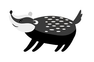 Badger cute cartoon animal