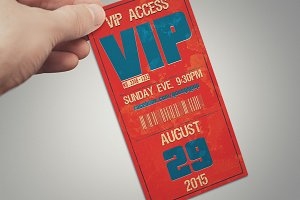 Multipurpose retro VIP PASS card