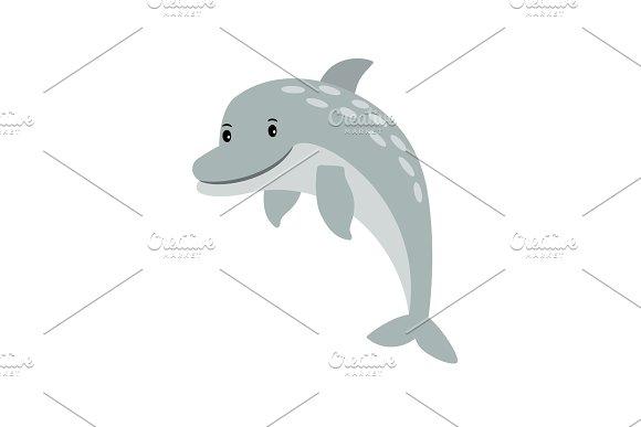 Dolphin Cartoon Sea Animal Icon