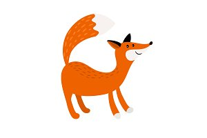 Fox cartoon forest animal icon
