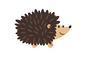 Hedgehog cartoon icon