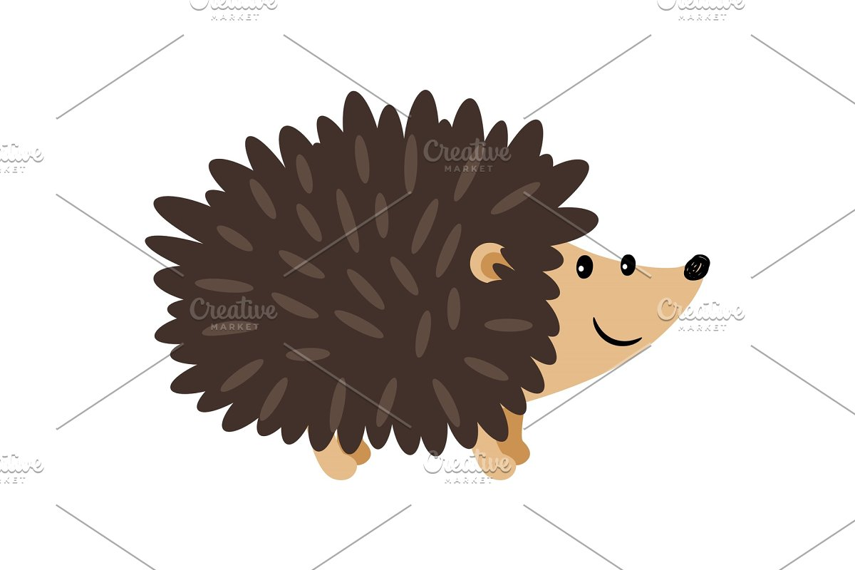 Hedgehog cartoon icon in Illustrations - product preview 8