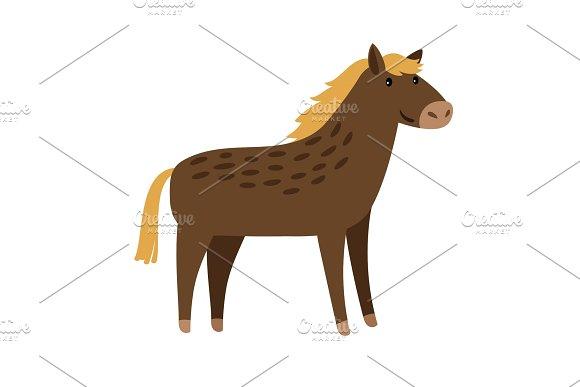 Horse Cute Cartoon Icon