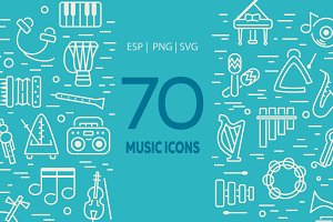 70 Music Icons