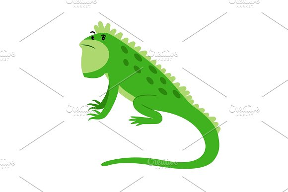 Iguana Exotic Reptile Cartoon Icon