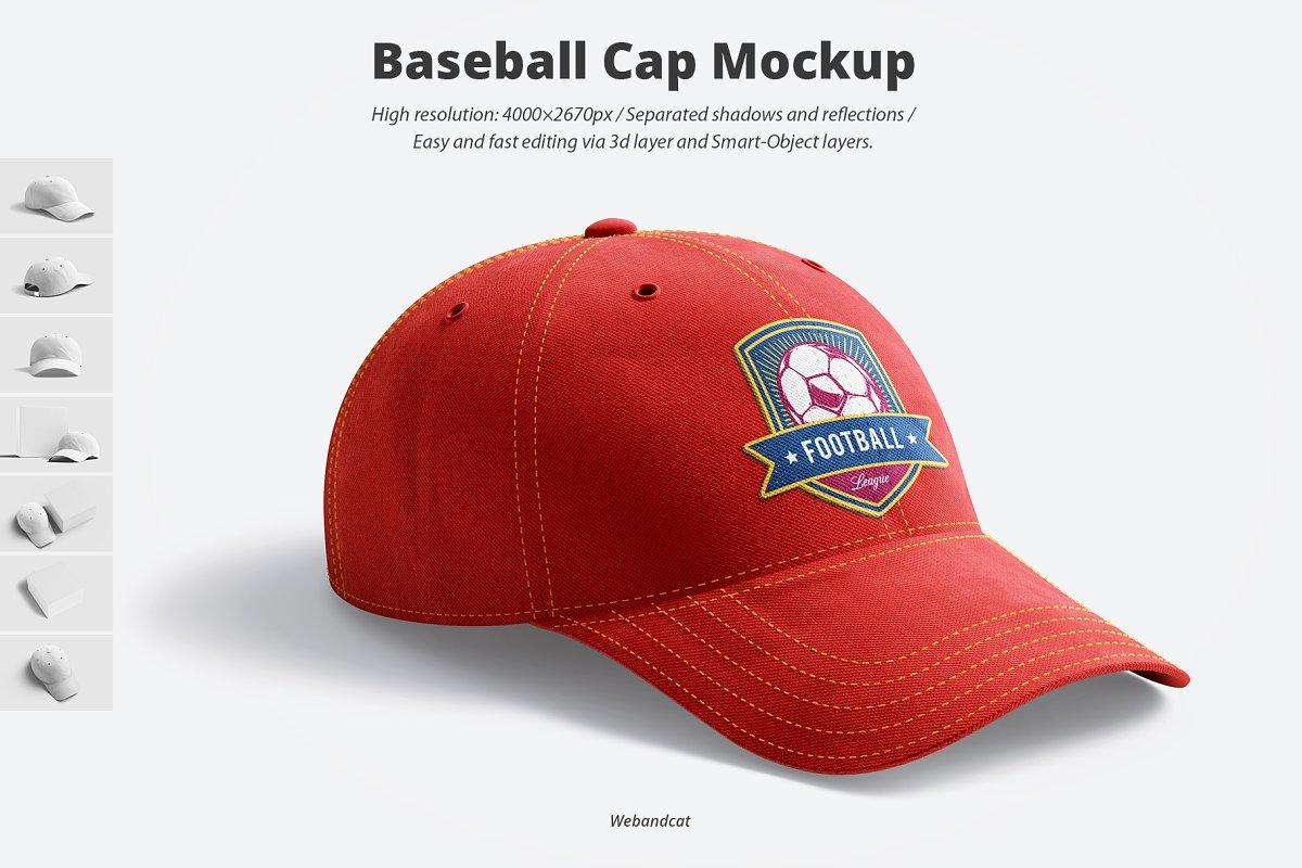Baseball Cap 3D Mockup ~ Product Mockups ~ Creative Market