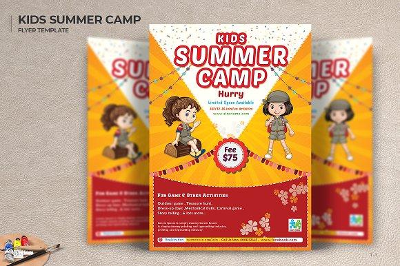 Kids Summer Camp Flyers