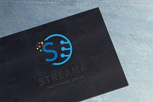 Streama - Letter S Logo