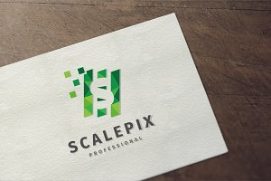 Scalepix - Letter S Logo