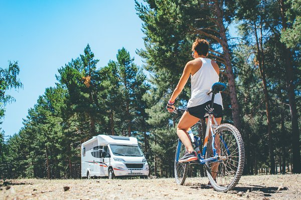 Transportation Stock Photos: Click and Photo - Motor home.Holidays adventure trip