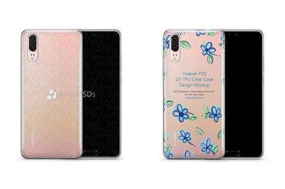 Huawei P20 UV TPU Clear Case Design