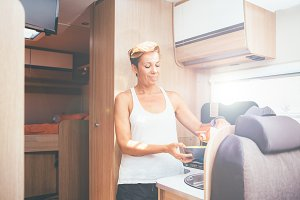 Motor home.Holidays adventure trip
