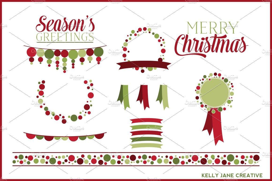 Christmas polka dot clipart vector illustrations creative market stopboris Images