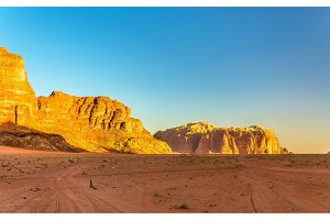 Wadi Rum desert landscape - Jordan