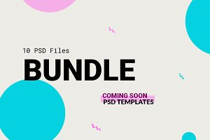 Coming soon psd template bundle