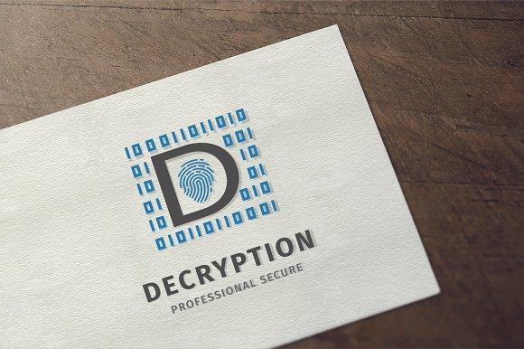 Secure Cryption Letter D Logo