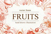 Fruits Vector Frame