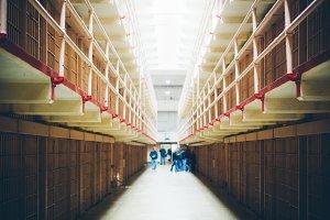 Inside of Alcatraz Penitentiary