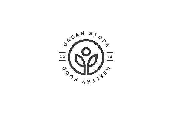 Healthy Food Store Logo Template