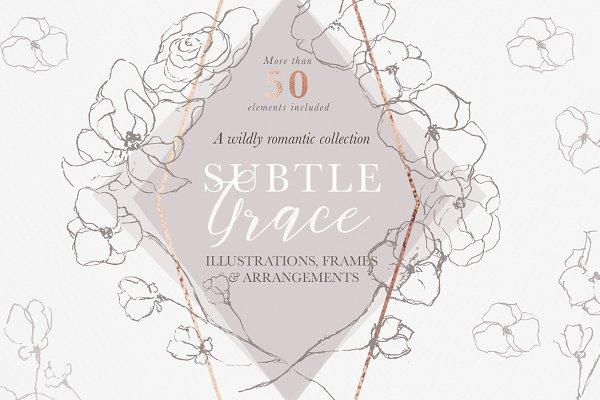 Graceful Floral Illustrations Bundl…