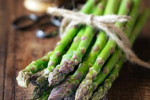 Bundle of fresh asparagus