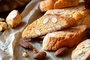 Freshly baked cantucci