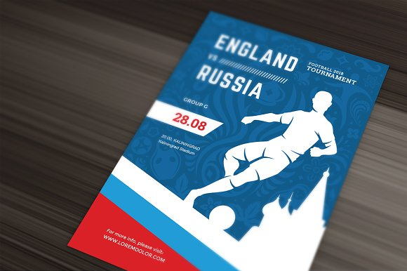 Football World Cup Russia 2018 Flyer