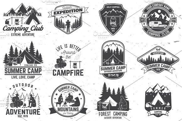 Summer Camp Badges