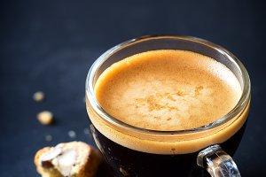 Espresso coffe with copyspace