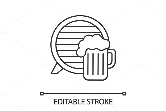 Craft Beer Pub Linear Icon