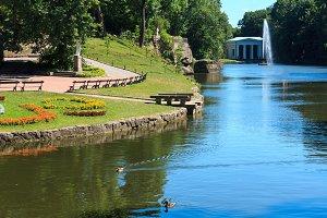 Summer city park. Ukraine
