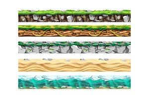 Land surface various types set.Œ