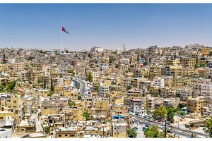 Cityscape of Amman downtown from the Citadel