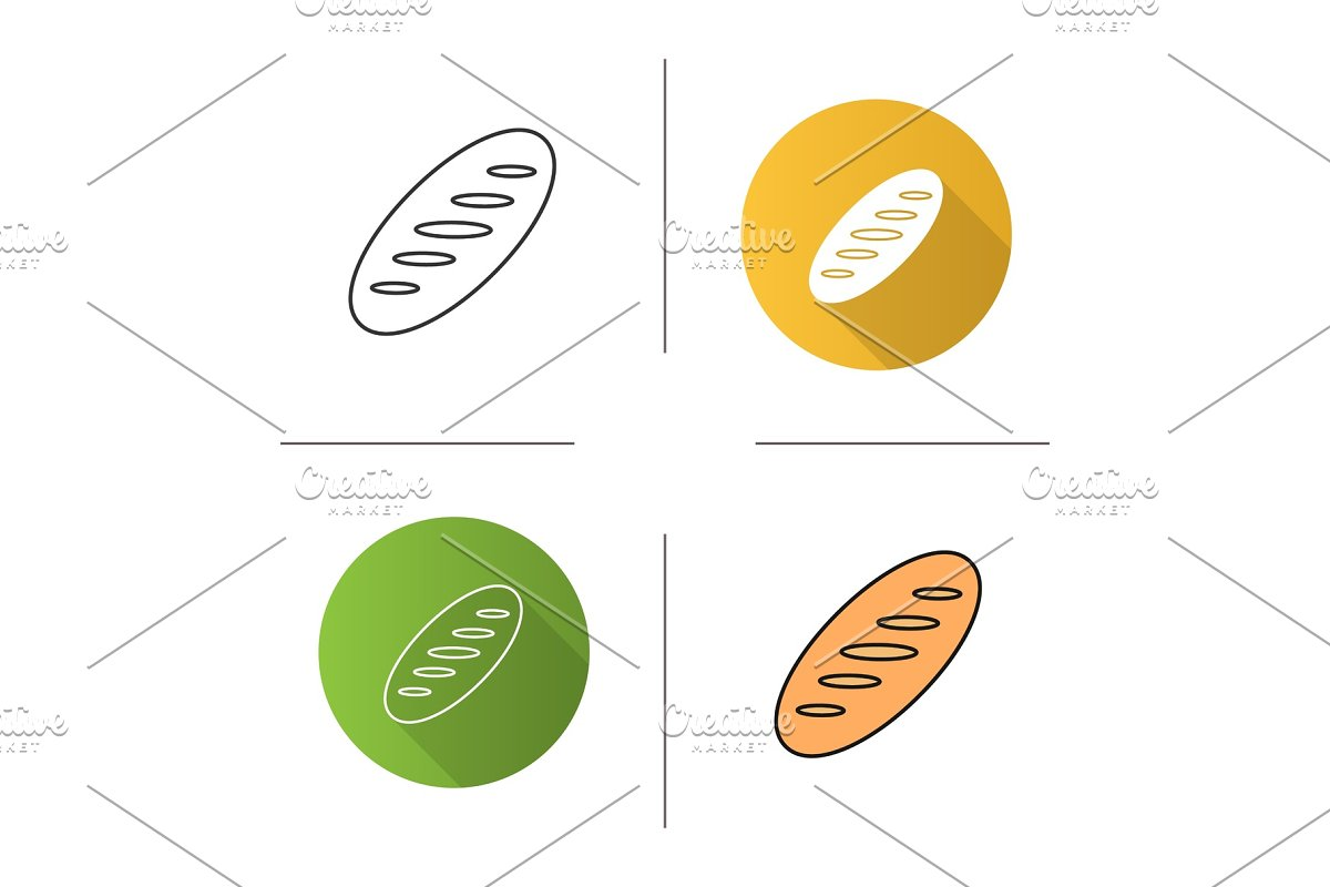 Bread loaf icon in Graphics - product preview 8
