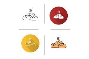 Dinner rolls icon