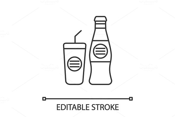 Cold Drinks Linear Icon