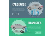 Car diagnostics and repair services flyers