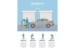 Car diagnostics and repair services 24h poster