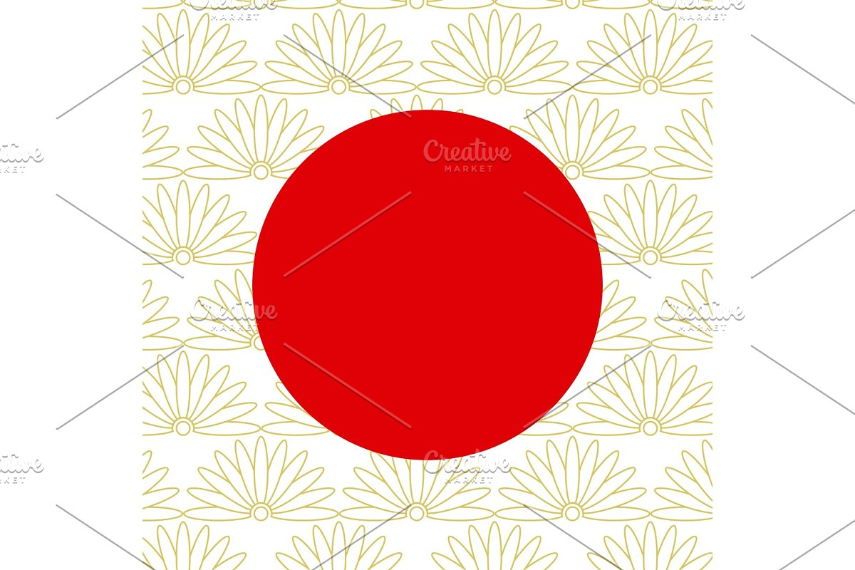Abstract japanese background with red circle in Illustrations - product preview 8
