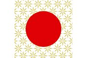 Traditional japan background with red circle