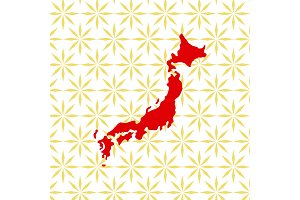 Abstract japanese background with Japan map