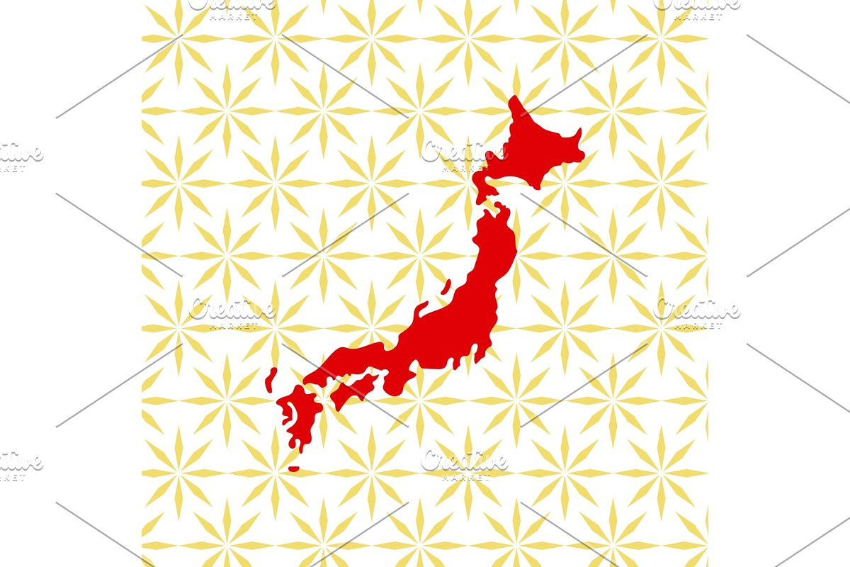 Abstract japanese background with Japan map in Illustrations - product preview 8