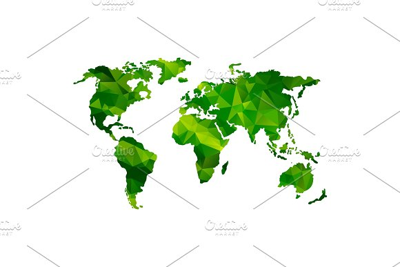 Low Poly Global World Map