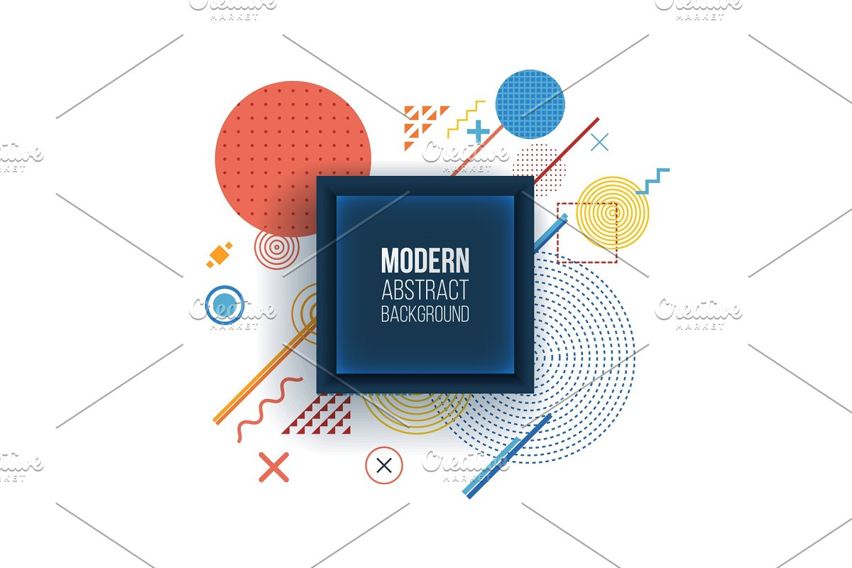 Modern background in trendy linear style in Illustrations - product preview 8