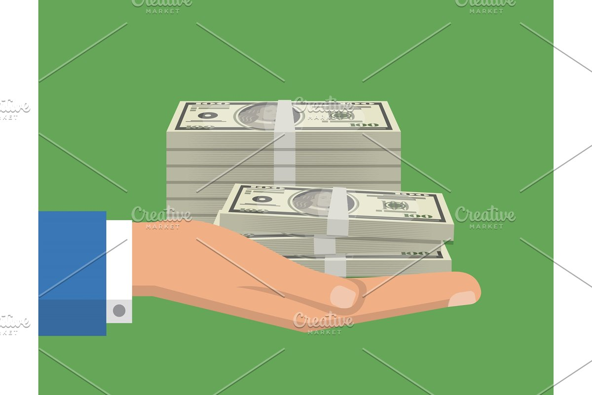 Capital investment flyers with paper banknotes in Illustrations - product preview 8